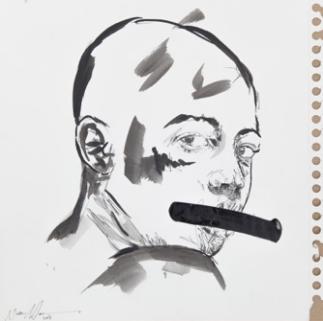 Nelson Makamo, sans titre,30x30 cm, 2016