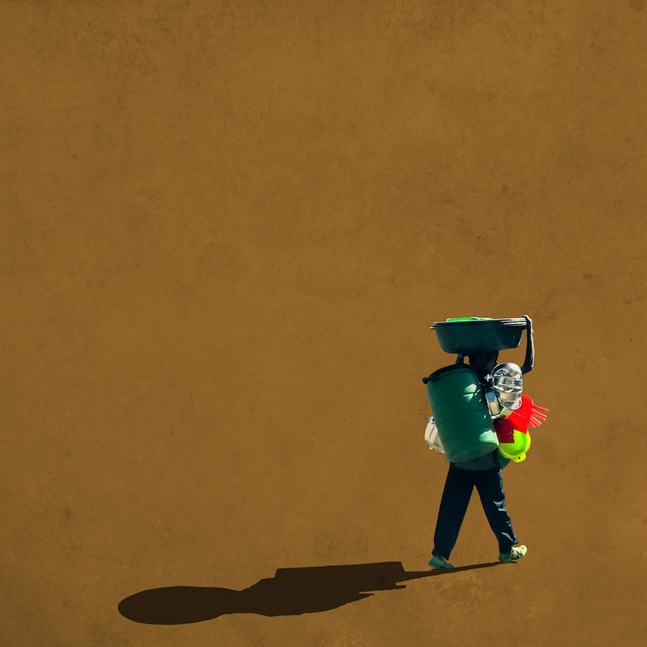 Girma Berta, Moving Shadows Series - Addis Fine Art