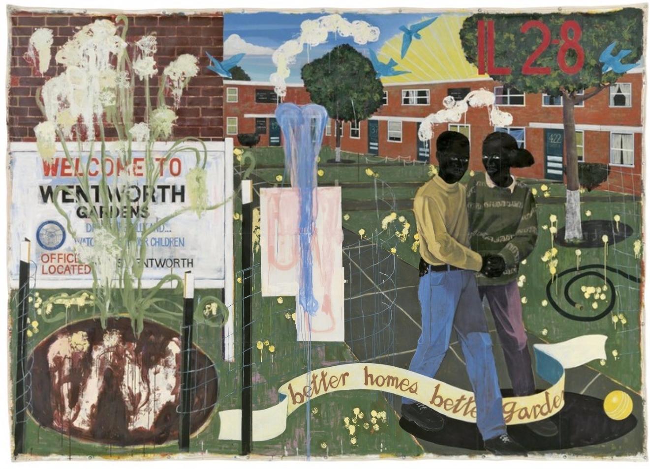 Better homes, better gardens, (Kerry James Marshall - Mastry), MCA Chicago