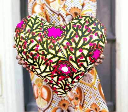 Heart Pillow by Myriam Maxo