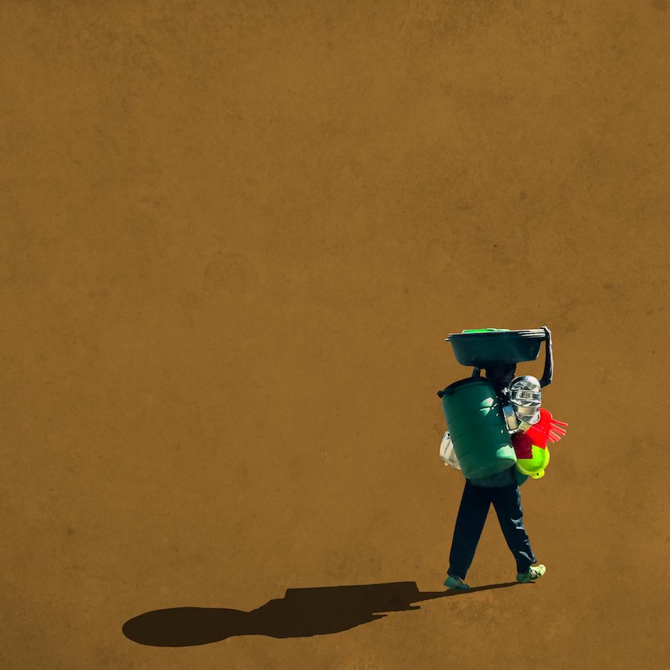 Girma Berta, Moving Shadows Series - Addis Fine Art