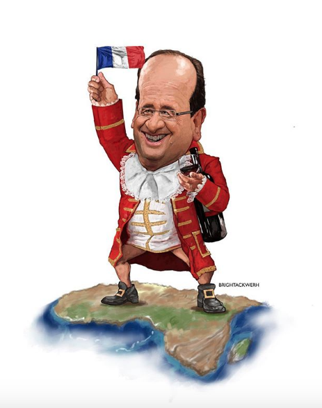 """COLONIAL TAX 😂 """"Without Africa, France will slide down into the rank of a third [world] power"""" Jacques Chirac, 2008 I brightackwerh"""