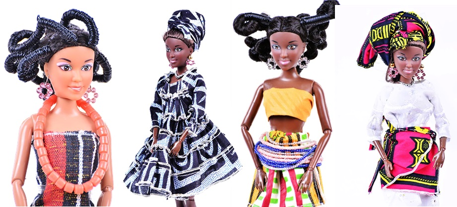 La poupée africaine de nos jours.
